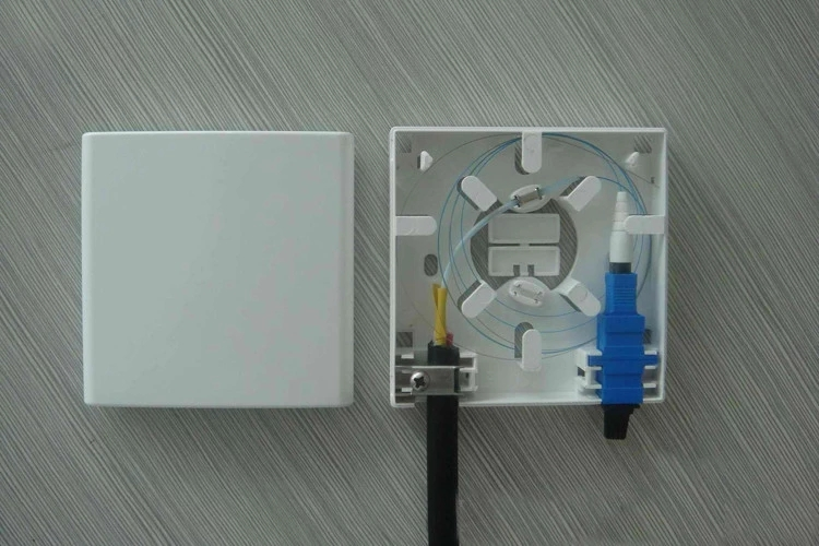SC Fiber Wall Outlet Installation Image